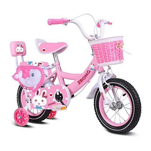 Bicicleta para Niños Infantil For niños de bicicletas for niños pequeños Niños Niñas Niño entrenamiento de la bicicleta con canasta de soporte estabilizadores Ruedas de acero al carbono de 3-8