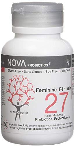 NOVA Probiotics Multi-Strain Feminine 27 Billion Probiotics per Capsule -60 VCaps