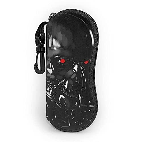 RichesY Fundas de Gafas Terminator Estuche blando para gafas de sol Estuche ultraligero de neopreno con cremallera y presilla para cinturón