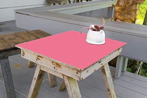 Wallario Aufkleber Selbstklebende Garten-Tisch-Decke - Pastellrot in 90 x 90 cm