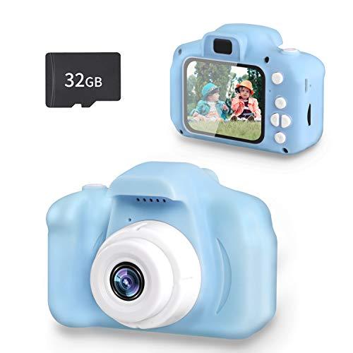 SZREDU Cámara de Fotos Digital para Niños, 1080P Cámara Infantil con Tarjeta TF 32GB, Digital Video Cámara para 3-9 Niños y Niñas Regalos de cumpleaños
