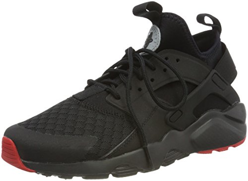 Nike, Air Huarache Run Ultra, Scarpe Running, Uomo, Nero (Black/Metallic Silver/University Red), 44.5 EU