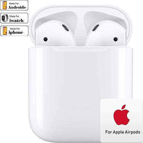 Bluetooth-Kopfhörer 5.0,Kabellose Kopfhörer IPX5 wasserdichte,Noise-Cancelling-Kopfhörer,Geräuschisolierung,mit 24H Ladekästchen und Mikrofon für Android/iPhone/Samsung/Apple AirPods Pro
