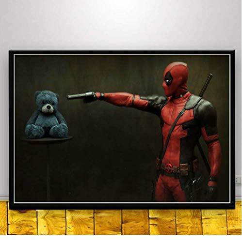 Cartel E Impresiones Deadpool Scream 1 2 DC Marvel Superhero Anime Movie Wall Art Painting Cuadros De Pared para Sala De Estar Decoración para El Hogar 50 × 70Cm Sin Marco