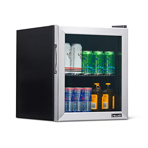 NewAir NBC060SS00 Beverage Cooler and Refrigerator, 60 Can, Stainless Steel, 60 Can