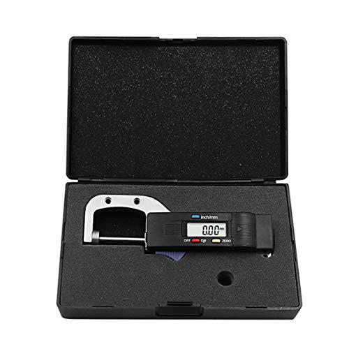 CHOUCHOU Colgante Pendientes 0-25mm Digital Grueso Calibre Horizontal de 0,01 mm de joyería de Perlas Regla Redondo Diámetro del Metal de medición Medidor de Espesor micrométrico