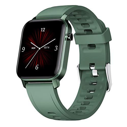 LTLGHY Smartwatch, Reloj Inteligente Impermeable IP68 para Hombre Mujer Pulsera De Actividad Inteligente con 15 Modos De Deporte con Pulsómetro Blood Pressure Sueño Podómetro,Verde