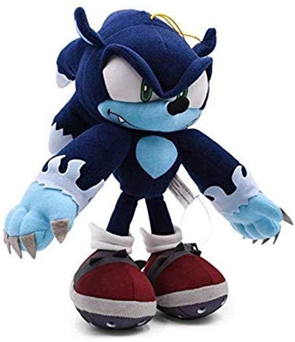 LINWEI Juguete de Felpa Azul Grande de Sonic Peluches Suaves del algodón Lindo de Peluche de Dibujos Animados muñecas de los Juguetes del bebé for los niños 2019 Nuevo