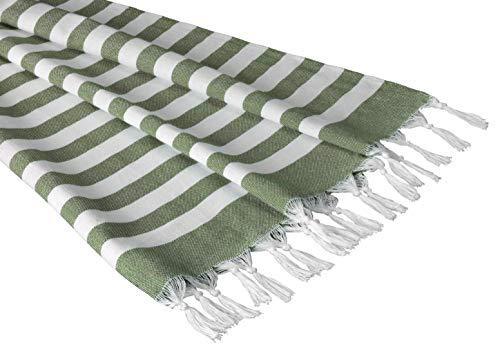 Sandy Beaches 100% Organic Cotton Turkish Towel, Large Beach Towel/Bath Towel, 39x70 (Tangerine)