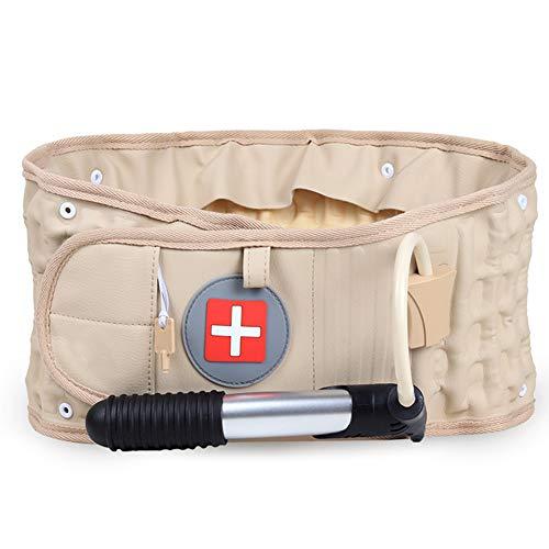 Hainice Cinturón Lumbar Soporte, Cinturón Trasero Descompresión del Aire Espinal Lumbar Tracción Neumática Protector para Aliviar El Dolor De Espalda Y Prevenir Daños