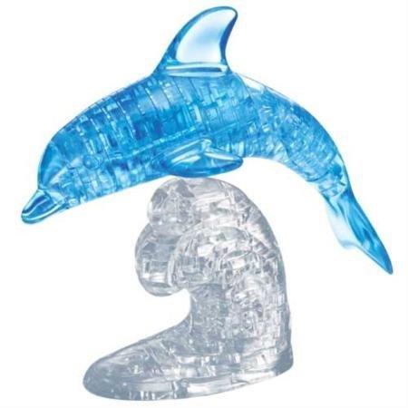 ACHICOO Lustiges Spielzeug, DIY 3D-Kristallpuzzle-Spielzeug Glattes Delphin-Kinder-Bildungsgeschenk Kinder, Freunde