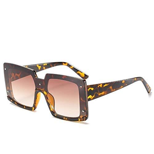 Gafas De Sol Hombre Mujeres Ciclismo Gafas De Sol Cuadradas De Plástico para Mujer, Montura De Gafas De Moda De Leopardo Vintage, Gafas De Sol para Hombre, Leopardo