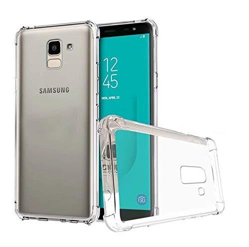 RKINC Funda para Samsung Galaxy J6 2018 Funda de Parachoques, (Esquinas Blandas + Dureza Trasera) Funda híbrida, Amortiguador, Cubierta Transparente para Samsung Galaxy J6 2018