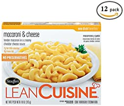 Nestle Stouffers Lean Cuisine Macaroni and Cheese, 10 Ounce -- 12 per case.
