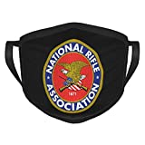 YBKTRLOJ NRA National Rifle Association Logo Mask Sport Windproof Dustproof Scarf Masks Adult for Mens and Woman Washable & Reusable Mask Neck Gaiter Popular Mouth-Muffle