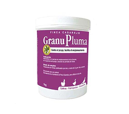 FINCA CASAREJO Suplemento vitamínico para Fortalecer Las Plumas de gallina - Favorece el emplumamiento - Previene el picaje en Aves - Granupluma (Ref. GPL)