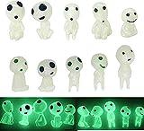 GDSAFS Luminous Garden Ghost Miniature Figurines, Garden Statue with Glow in The Dark, 10pcs Alien Garden Statues and Figurines