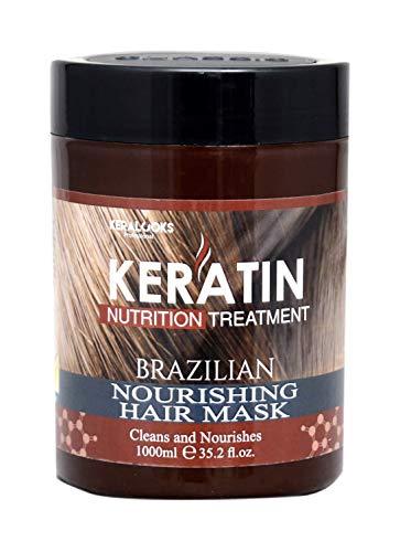 Keralooks keratin brazillian nourishing hair mask for damage and frizzy hair(1000ml)