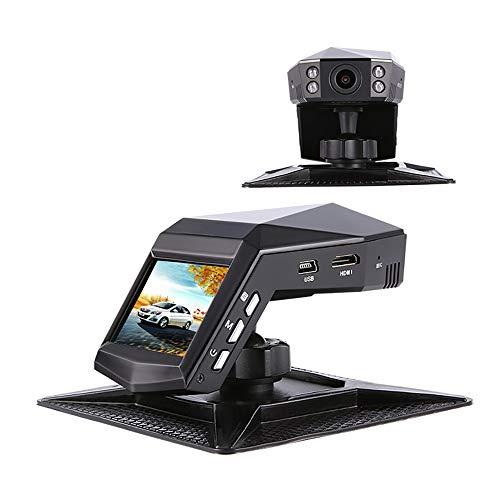 Caméra double tableau de bord, enregistreur de caméra pour tableau de bord grand angle 170 °, moniteur de stationnement, capteur G, WDR, vision nocturne infrarouge (sans carte mémoire)