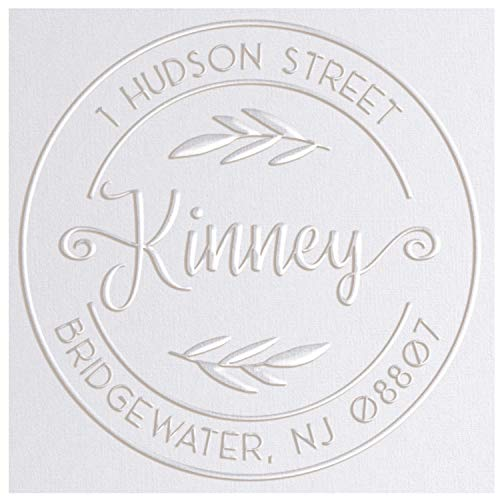 Address Embosser Seal Round Custom Monogram Embosser Personalized Embossing Seal Personalized Stamp Hand Desk Embosser for Office 165 inch Seal 4