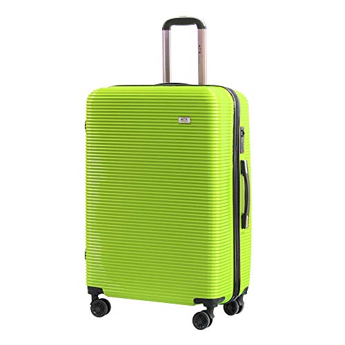 28'/74cm ATX Luggage Large Super Lightweight Durable ABS Hard Shell Hold Luggage Suitcases Travel Bags Trolley Case Hold Check In Luggage with 4 Wheels Built-in 3 Digit Combination Lo(28'Large, Green)