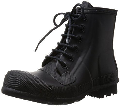 HUNTER Men's Original Rubber Lace Up Boots Black