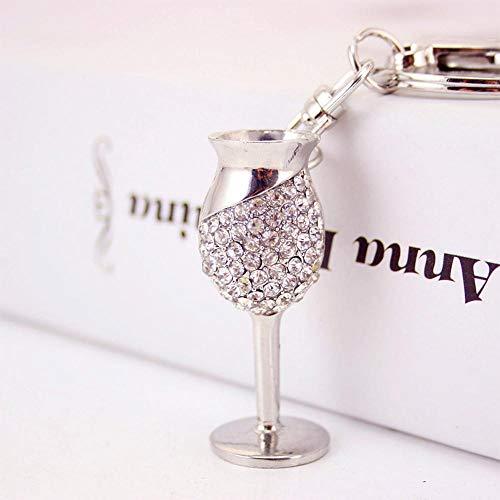 Olydmsky Keychain Volle Diamant-niedliche kleine Becher-Zink-Legierung + Strass Schlüsselanhänger Tasche Anhänger
