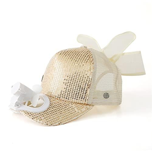 XZQ Sombrero con Ventilador, Aire Libre USB Recargable Visera Visera Sombrero Verano Protector Solar Tapa de béisbol Transpirable para Adultos para niños para Camping al Aire Libre