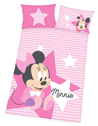 Disney Minnie Mouse Parure de lit 100% Coton renforcé 40 x 60 x 135 cm