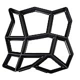 Cabilock - Molde de plástico para hormigón (36 x 36 cm), color negro