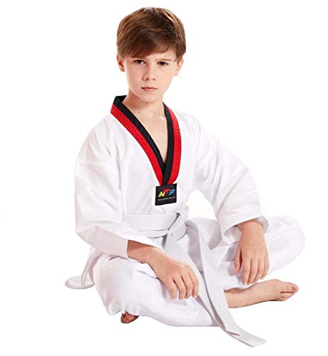 JXS-Outdoor Taekwondo Uniform Black Neck Basic - Unisex - MMA Martial Arts Karate Hapkido Judo JIU-Jitsu pak pakken Gym Academy