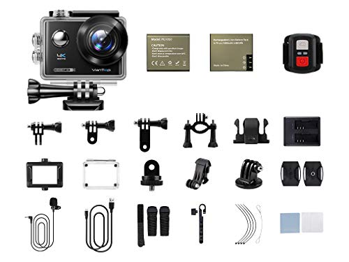 VanTop Moment 4U 4K Action Camera 20MP Underwater Waterproof Camera with EIS, External Microphone, Touch Screen, Slow… 4 Fabulous 4K Action Camera: Featuring professional 4K/30FPS video and 20MP photo resolution, VanTop Moment 4U action camera captures crystal clear and sharp footages for your adventures. The IPS touch screen and humanized operating interface make it easier to set up the camera. Just enjoy the moment for you Hyper-Stable EIS Technology: Built-in advanced Electronic Image Stabilization (EIS) helps to counteract any bump, shake or camera tilt and delivers shake-free, extremely stable and stunning videos. VanTop Moment 4U action camera is built for movements and adventures Waterproof Up to 100FT: You can explore the mysterious submarine world with this underwater camera with its included high quality waterproof case on. It is ideal for water sports such as snorkeling, diving, swimming, surfing, etc. Snap the moments you can't get with your phone with this VanTop Moment 4U