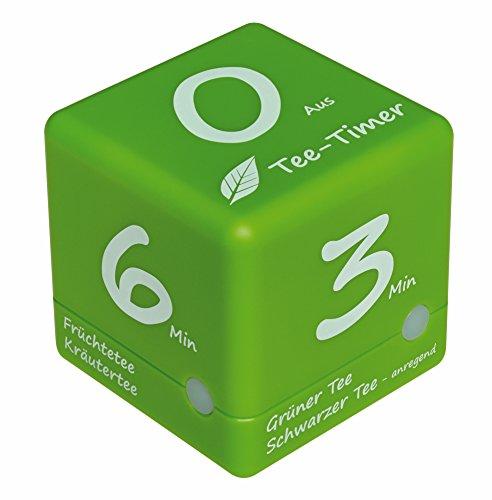 TFA Dostmann Digitaler Tee-Timer, 38.2035.04, ideale Ziehzeit, Tee-Zubehör, Timer, grün