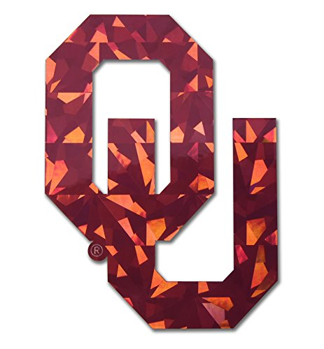 Elektroplate Oklahoma Sooners Red Reflective 3D Decal Domed Auto Sticker Emblem
