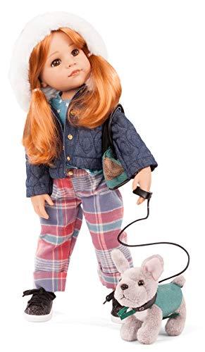 Götz 2159097 - Muñeca de pie (50 cm, pelo rojo y ojos marrones, 10 piezas)