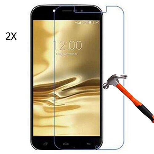 2 Stücke Tempered Glasfolie Schutzfolie für Umi Rome / Umi Rome X Premium Screen Folie Protector Hartglas Bildschirmschutz Panzerfolie clear 9H