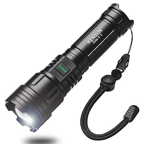 XHP70.2 LED Taschenlampe Extrem Hell 5000Lumen,Mini Taschenlampe LED USB Aufladbar 26650 Batterie Enthalten,5 Modi Zoombare,IPX67 Wasserdicht Taschenlampe für Camping Outdoor Wandern Notfall Jagd