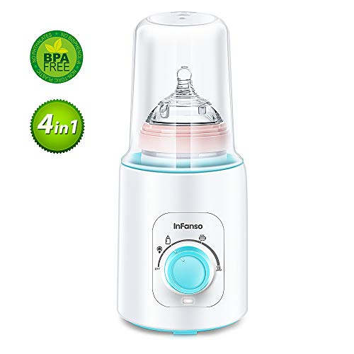 InFanso Baby Bottle Warmer Electric Bottle Steam Sterilizer BW100 with 4 Levels of Heating Breast-Milk, Formula, Baby Food and Frozen Milk