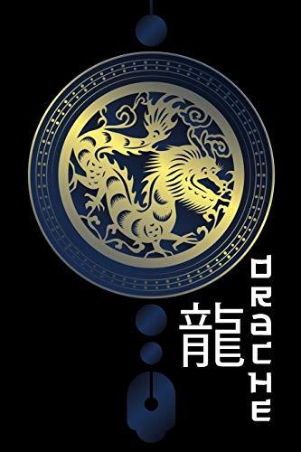 Drache Notizbuch: A5 Notizheft mit Chinesischen Tierkreiszeichen I Tagebuch für Astrologie Fans I blanko Sternzeichen Horoskop Buch zum Selberschreiben I ausgefallene Geschenke zum Geburtstag