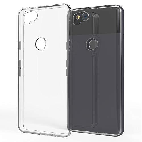 NALIA Coque Protection Compatible avec Google Pixel 2, Ultra-Fine Housse Silicone Telephone Portable Premium Case Cover, Cristal Clair Anti-Choc Souple Mince Slim Bumper Etui Résistant - Transparent