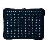 Alien Rune abriebfeste wasserdichte super leichte Laptoptasche Handtasche Laptop Messenger Bag für...