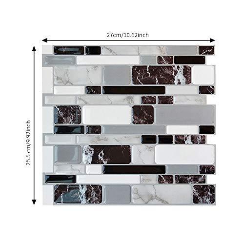 Yubingqin Pegatina de azulejo de mármol para Cocina Baños Decoración Peel and Stick Afile Afile Tile Mosaic Mosaic Pegatina de Pared Decoración (Color : DJ011, Size : 1pc)