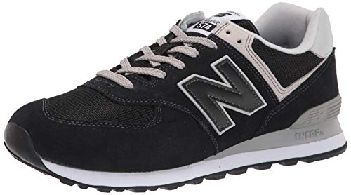 New Balance mens 574 V2 Evergreen Sneaker, Black/White/Grey, 11.5 US