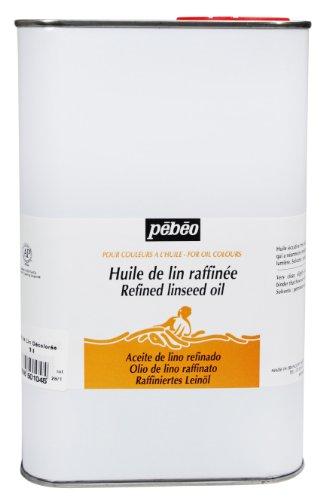 Pebeo 1 litro di Olio di Lino Raffinato Trasparente