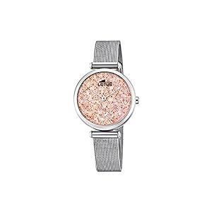 Lotus Watches Reloj Análogo clásico para Mujer de Cuarzo con Correa en