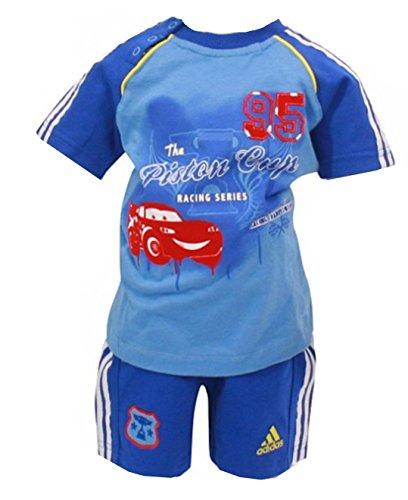 Adidas Z29952 - Set di pantaloncini Disney Cars da bambino, 2-3 anni, colore: Blu marino