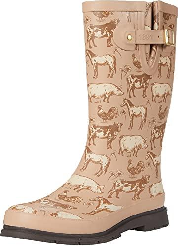 Farm Animals Printed Tall Rain Boot