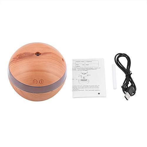 YIFengFurun Humidificador para el hogar, humidificador de grano de madera USB, para coche, dormitorio, viaje, oficina 300 ml, amarillo, Talla única