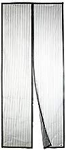 Apalus ® Moustiquaire à Fermeture Aimantée, Fermeture Automatique, Kit d'Installation Complet, Punaises et Bande Adhésive Inclus (120x220 CM, Noir)