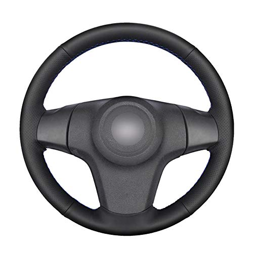 YKANZS Handgenähte Lenkradabdeckung aus schwarzem Leder für Chevrolet Niva (3-Speichen) Lada Niva Opel Opel Corsa...